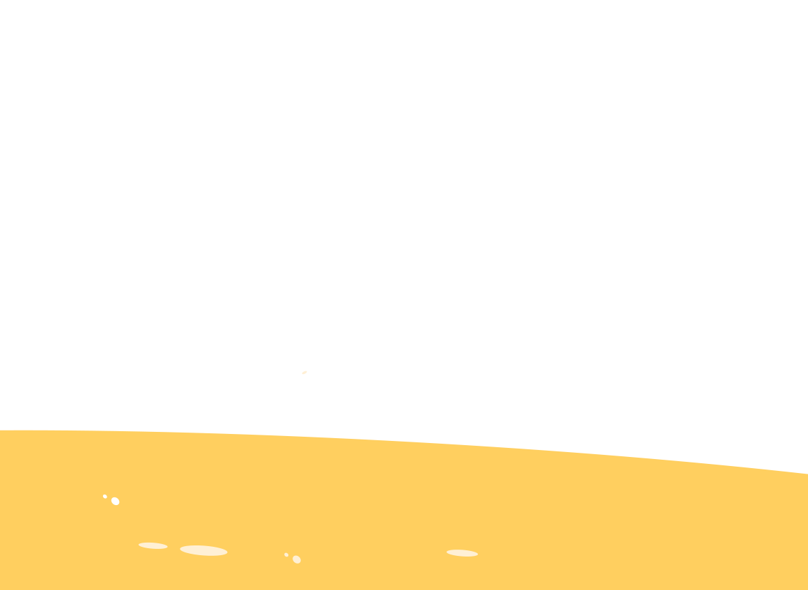 Sun illustration, setting on a sandy beach.