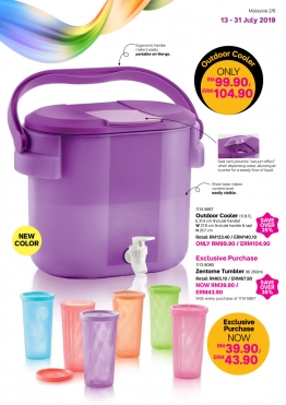 With every purhase of Tupperware Brands products worth RM200**, you will get to enjoy one of these deals.