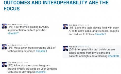 OUTCOMES AND INTEROPERABILITY ARE THE FOCUS