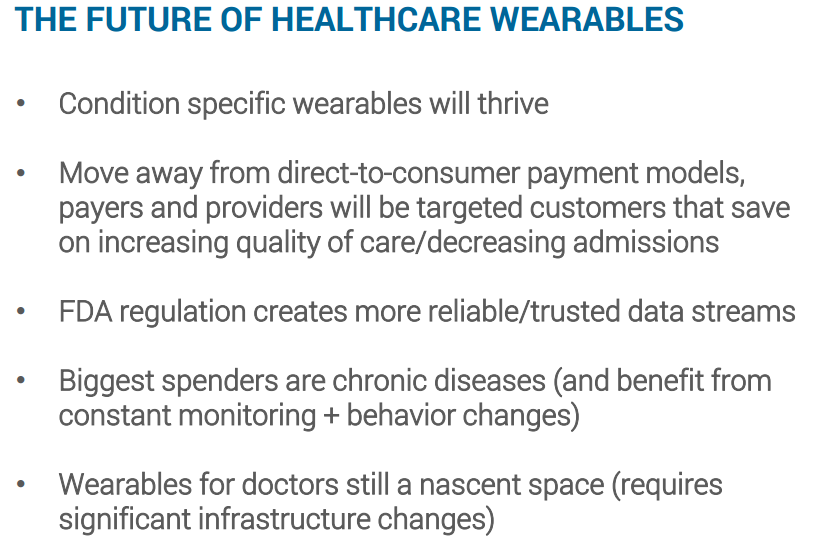 THE FUTURE OF HEALTHCARE WEARABLES