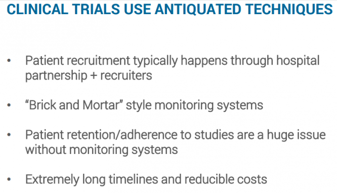 CLINICAL TRIALS USE ANTIQUATED TECHNIQUES