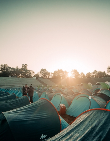 Campsite tents photo