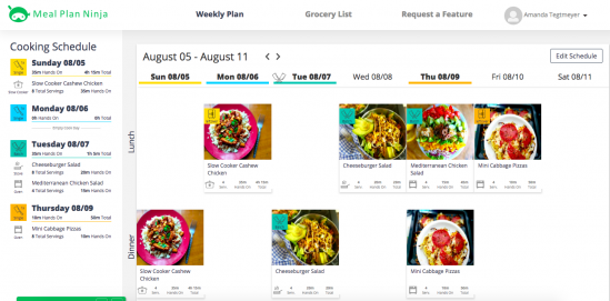 Meal Plan Dashboard