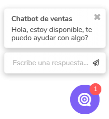 Chatbot de ventas Cliengo Version 2 Widget Sitio Web