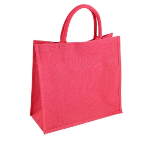 Luxury jute shopper printed with your artwork