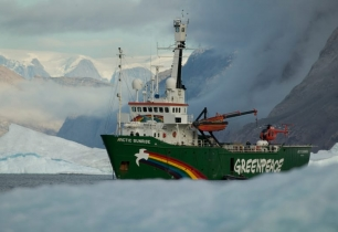 Arctic Sunrise on a mission to save the Arctic