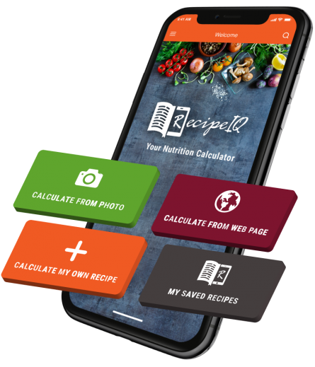 This easy-to-use nutrition calculator app lets you extract the nutritional information from the image of ANY recipe. Try it!