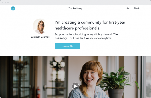Create a professional community