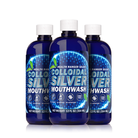 silver mouth wash mockup