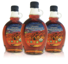 3 bottles of Health Ranger Maple Syrup