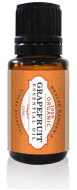Grapefruit essential oil bottle