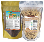 Organic Baobab Superfruit Snacks (Orange Flavor) + 100% Organic Cashews Combo Pack