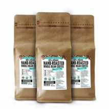 100% Organic Hand-Roasted Whole Bean Coffee (Cold Brew) 12oz, 340g (3-Pack)
