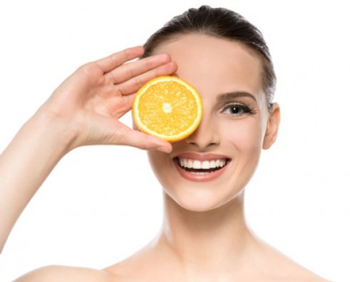 Woman Citrus Vitamin C