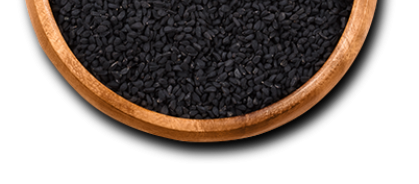 bowl with black cumin seed
