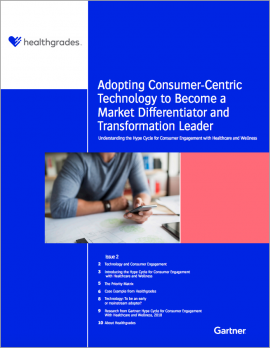 Healthgrades - Gartner report cover: Adopting Consumer-Centric Technology in Helathcare