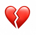 Broken heart emoji used to support the loyalty marketing statistic that 77% of consumers admit to retracting loyalty more easily than they did 3 years ago.