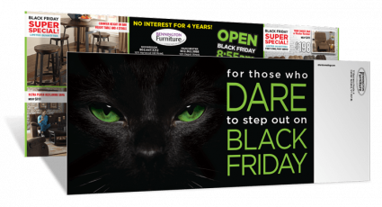 Black Cat Eyes Black Friday Direct Mail Marketing Campaign