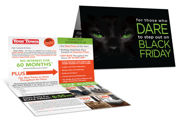 Black Friday Direct Mail Marketing Program