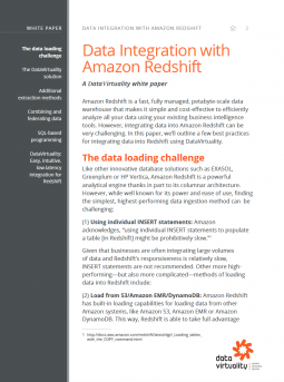 Integrate All Of Your Data Into Amazon Redshift