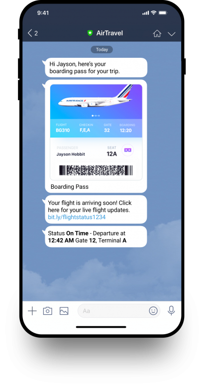 Line Notify Flight Information
