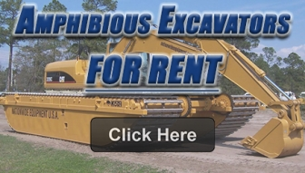 AMPHIBIOUS EXCAVATORS FOR RENT