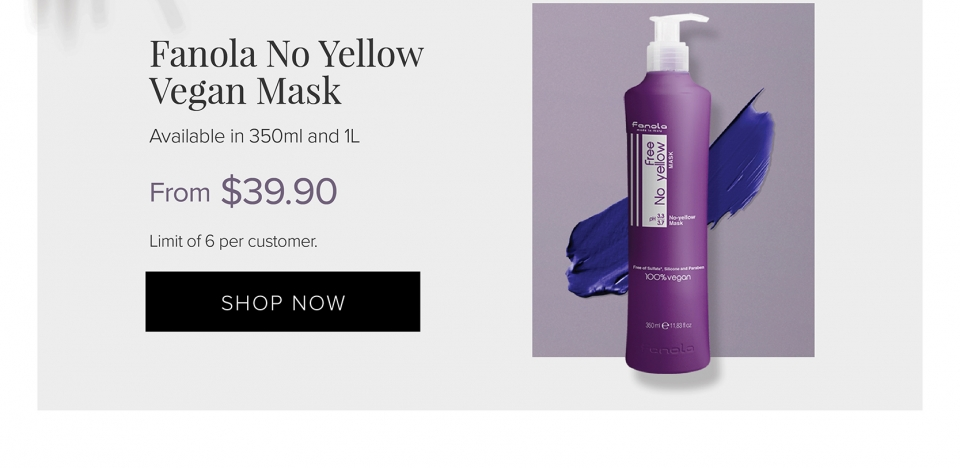Fanola No Yellow Vegan Mask