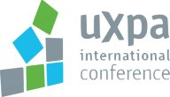 User Experience Professionals Association International Conference logo with 6 blocks stacked in a pyramid