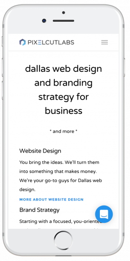dallas small business website design home page