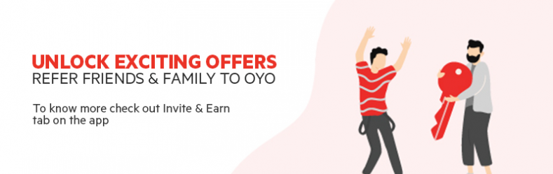 Unlock exciting offers when you Refer friends and family to OYO.