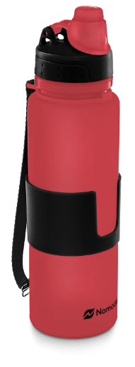 red nomader collapsible water bottle