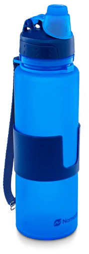 blue nomader collapsible water bottle