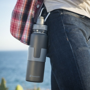 Nomader collapsed water bottle with carabiner for hiking