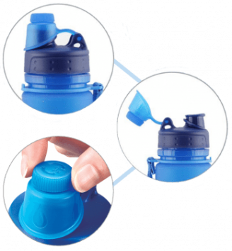 blue nomader water bottle leak proof cap