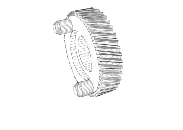 Helical Gear Wireframe
