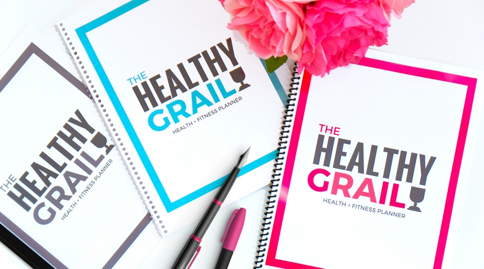 The Healthy Grail is a health and fitness planner that covers EVERYTHING.