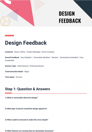 Bit Documentu0027s Design Feedback Template Is A Useful Way To Standardize Your  Customer Feedback, Across Multiple Conversations.  Feedback Document Template