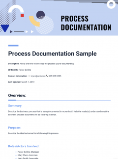 Free Document Templates Bitai Document Collaboration Document - How to write a process document template