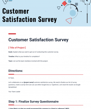 Customer Feedback Template