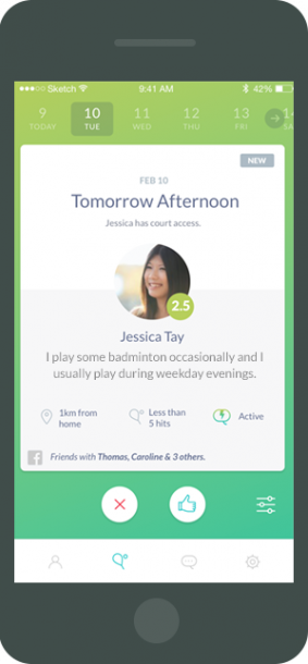 88ad5f73c Rovo is a brand new app that connects you with other badminton players  nearby. It takes away the hassle of finding players of your level    coordinating ...