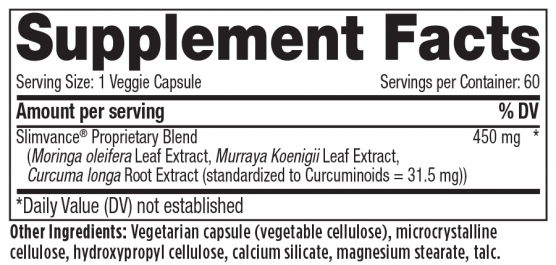 Re-Body Provance Supplement Facts Panel