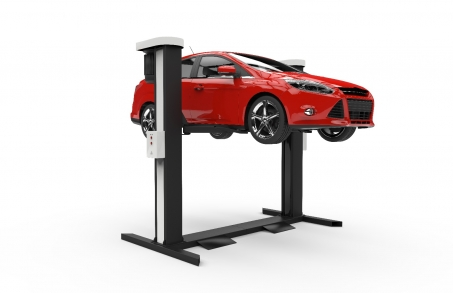 Car on Lift