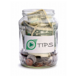 Let your readers tip you with someone elses money