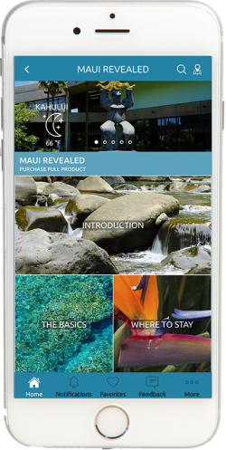 Hawaii Revealed App - Home Page