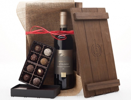 Wine Chocolate Gift Basket
