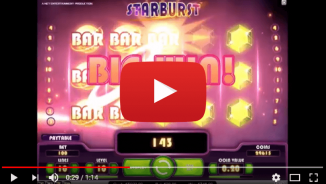watch starburst big wins and play for real at TradaCasino