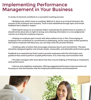 Implementing Performance Management in Your Business