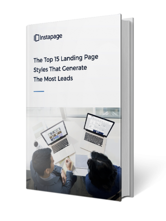 This picture shows marketers the top landing page styles that generate conversions and sales.