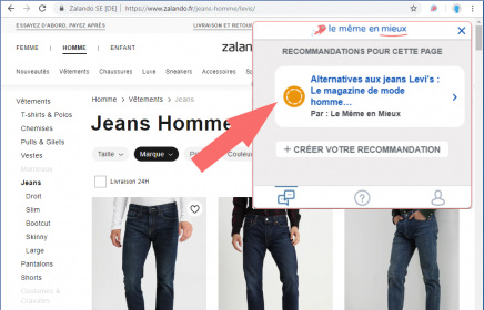 Alternatives au jean levi's