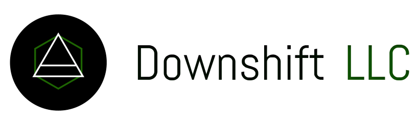Downshift Text Logo